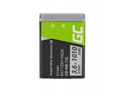 Green Cell ® Batteria NB-13L per Canon PowerShot G5 X, G7 X, G7 X Mark II, G9 X, SX620 HS, SX720 HS, SX730 HS 3.6V 1010mAh