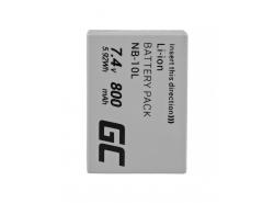 Green Cell ® Batteria NB-10L per Canon PowerShot G15, G16, G1X, G3X, SX40 HS, SX40HS, SX50 HS, SX60 HS 7.4V 800mAh