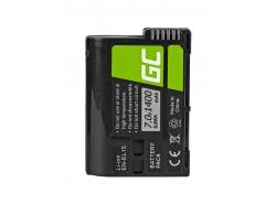 Green Cell ® Batteria EN-EL15 perNikon D850, D810, D800, D750, D7500, D7200, D7100, D610, D600 7.0V 1400mAh