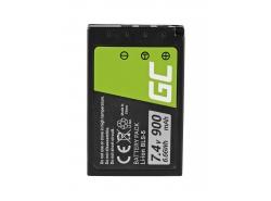 Green Cell ® Batteria BLS-5 / BLS-50 per Olympus OM-D E-M10, PEN E-PL2, E-PL5, E-PL6, E-PL7, E-PM2, Stylus 1 7.4V 900mAh