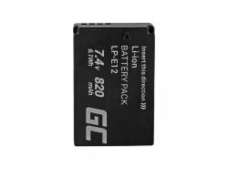 Green Cell ® Batteria LP-E12 per Canon EOS M100, EOS100D, EOS-M, EOS M2, EOS M10, Rebel SL1 7.4V 820mAh