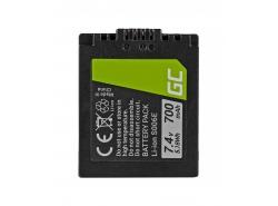 Batteria Green Cell ® CGR-S006E per fotocamera Panasonic Lumix DMC FZ7 FZ8 FZ8S FZ8K FZ18 FZ28 FZ7K FZ30 FZ38 FZ50 7.4V 700mAh