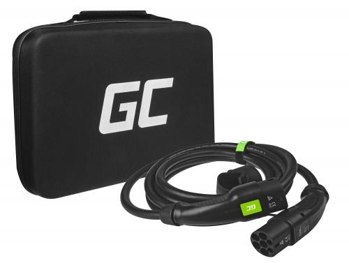 Cavo Green Cell GC Type 2 22kW 5 m per ricarica EV Tesla Leaf Ioniq Kona E-tron Zoe con custodia