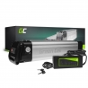 Green Cell® Batteria per Bicicletta Elettrica 36V 8.8Ah Li-Ion E-Bike Silverfish e Caricabatterie