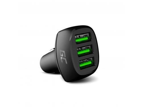 Green Cell GC PowerRide 54W 3xUSB 18W Caricabatterie per auto con tecnologia di ricarica rapida Ultra Charge