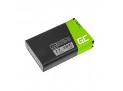 Batteria Green Cell 361-00053-00 per Garmin Alpha 100 handheld Montana 600 600T 650 Camo 650 650T Monterra, Li-Ion 2200mAh 3.7V
