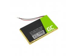 Batteria Green Cell IA2B309C4B32 per GPS Garmin Nuvi 300 310 350 360 360T 370 Navgear Streetmate GP-43, Li-Polymer 1250mAh 3.7V