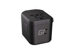 Green Cell GC Adattatore universale TripCharge PRO con porte USB-A UC e USB-C PD 18W