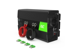 Green Cell® 1000W/2000W Invertitore Onda Pura DC 24V AC 230V Convertitore di tensione