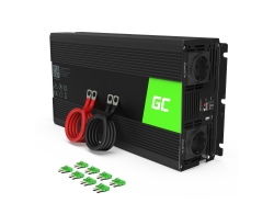 Green Cell® 1500W/3000W Invertitore Onda Pura DC 24V AC 230V Convertitore di tensione
