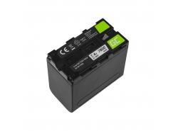 Batteria ad accumulatore Green Cell NP-F960 NP-F970 NP-F975 per Sony 7.4V 7800mAh
