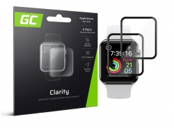 2x GC Clarity Vetro temperato per Apple Watch 4/5 44mm