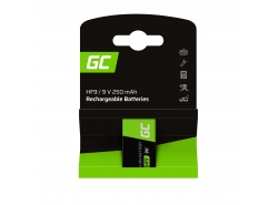 Batteria 1x 9V HF9 Ni-MH 8000mAh Green Cell