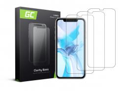 3x Vetro Temperato per iPhone 11 / iPhone XR Pellicola Prottetiva GC Clarity Protezione Schermo 9H Durezza Alta qualità