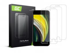 3x Vetro Temperato per iPhone SE 2020 / 6 / 6S / 7 / 8 Pellicola Prottetiva GC Clarity Protezione Schermo 9H