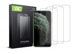 3x Vetro Temperato per iPhone X / XS / 11 Pro Pellicola Prottetiva GC Clarity Protezione Schermo 9H