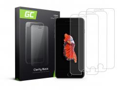 3x Vetro Temperato per iPhone 6 Plus / 6S Plus / 7 Plus / 8 Plus Pellicola Prottetiva GC Clarity