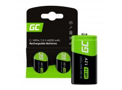 Batterie 2x C R14 HR14 Ni-MH 1.2V 4000mAh Green Cell
