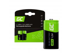 Batteria 4x C R14 HR14 Ni-MH 1.2V 4000mAh Green Cell