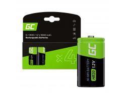 Batteria 4x D R20 HR20 Ni-MH 1.2V 8000mAh Green Cell