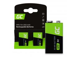 Batteria 2x 9V HF9 Ni-MH 8000mAh Green Cell