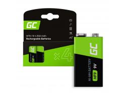 Batteria 4x 9V HF9 Ni-MH 8000mAh Green Cell