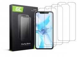 4x Vetro Temperato per iPhone 11 / iPhone XR Pellicola Prottetiva GC Clarity Protezione Schermo 9H Durezza Alta qualità