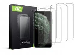 4x Vetro Temperato per iPhone X / XS / 11 Pro Pellicola Prottetiva GC Clarity Protezione Schermo 9H