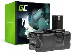 Green Cell® Batteria (5Ah 18V) ONE+ RB18L50 RB18L25 per RYOBI R18AG0 R18JS0 R18PDBL RCD18022L RID1801M RMT1801M