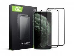 2x Vetro GC Clarity temperato per Apple iPhone 11 Pro
