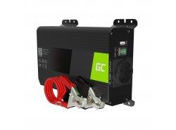 Green Cell Pro Convertitore di tensione Inverter DC 12V a AC 230V 300W/600W Onda Sinusoidale Pura