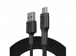 Cavo Green Cell GC PowerStream USB-A - Micro USB 120 cm, ricarica rapida Ultra Charge, QC 3.0