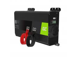 Green Cell Pro Convertitore di tensione Inverter DC 12V a AC 230V 500W/1000W Onda Sinusoidale Pura