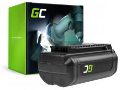 Batteria Green Cell (6Ah 36V) 5133002166 BPL3626D2 BPL3650 BPL3650D OP4026 RY36B60A per Ryobi RY40200 RY40403 RY40204 RY40210