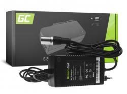Green Cell ® Caricabatteria per Batterie per Biciclette Elettriche 24V 2A