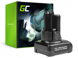 Batteria Green Cell (5Ah 10.8V) GBA 12V 2607336333 D-70745 2607336013 BAT414 per Bosch GAS GLI GSR 10.8V-LI 10.8V-LI