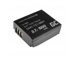 Batteria Green Cell ® CGA-S007E CGA-S007 per Panasonic Lumix DMC TZ1 TZ2 TZ2GK TZ3 TZ3A TZ3K TZ4 TZ5 TZ11 3.7V 1000mAh