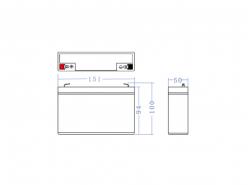 Green Cell ® Batteria al Gel AGM 6V 12Ah