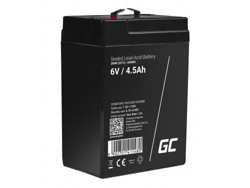 Green Cell®  Batteria AGM 6V 4.5Ah accumulatore sigillata giocattoli per bambini Installazioni di allarme