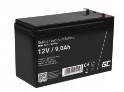 Green Cell ® Batteria al Gel AGM 12V 9Ah