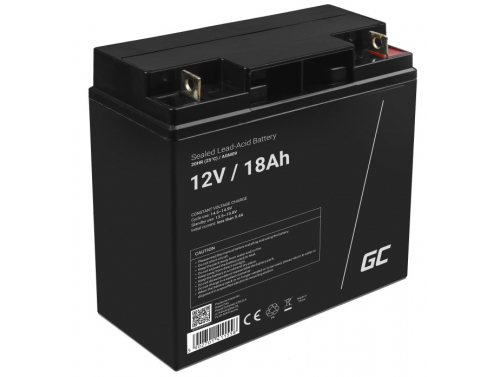 Green Cell®  Batteria AGM 12V 18Ah accumulatore sigillata falciatrice Scooter Peschereccio Trattorino
