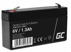 Green Cell ® Batteria al Gel AGM VRLA 6V 1.3Ah