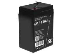 Green Cell®  Batteria AGM 6V 4Ah accumulatore sigillata giocattoli per bambini Installazioni di allarme