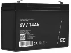 Green Cell®  Batteria AGM 6V 14Ah accumulatore sigillata giocattoli per bambini Installazioni di allarme