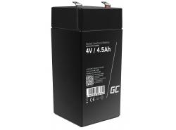 AGM Battery al piombo 4V 4.5Ah Ricaricabile Green Cell per l'alimentazione di giocattoli e torce elettriche