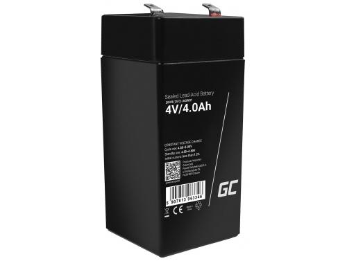 Green Cell®  Batteria AGM 4V 4Ah accumulatore sigillata giocattoli per bambini Installazioni di allarme