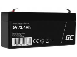 AGM Battery al piombo 6V 3.4Ah Ricaricabile Green Cell per scooter e parchimetro