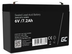 AGM Battery al piombo 6V 7.2Ah Ricaricabile Green Cell per tosaerba e trattore