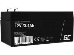 AGM Battery al piombo 12V 3.4Ah Ricaricabile Green Cell per registratore di cassa e piani di lavoro
