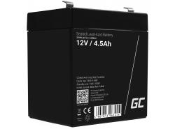 AGM Battery al piombo 12V 4.5Ah Ricaricabile Green Cell per giocattoli e torcia elettrica